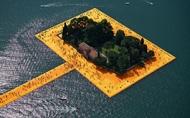 漂浮於湖面上的金色地毯,一同漫步在伊塞奧湖的水上步道
