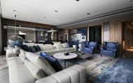 【簡兆芝室內設計 簡兆芝】雅緻藍調深藏品味 大氣氤氳的現代之所